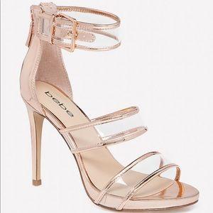 Bebe Auhdrey Clear Strap Sandals